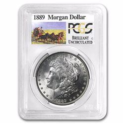 1889 Stage Coach Silver Dollar BU PCGS