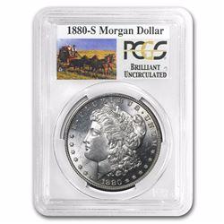 1880-S RARE Stage Coach Series Silver Dollar BU PCGS Graded in slab