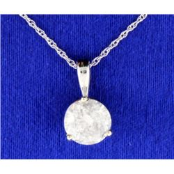 1.28 carat Diamond Pendant with chain