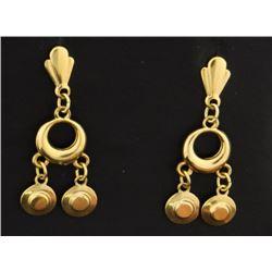 14k Yellow Gold Dangle Style Earrings