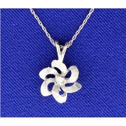 Diamond Rosette Necklace