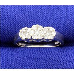 1/2 ct TW Diamond Ring 3 Stone Style
