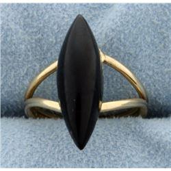 14k Yellow Gold Onyx Ring