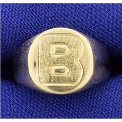 """""""B"""" Initial or Monogram Ring"""