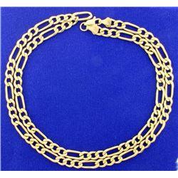 23 1/2 Inch Figaro Neck Chain
