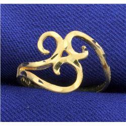 Modern Design Diamond Cut Ring