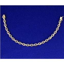 Diamond Cut Gold Bracelet
