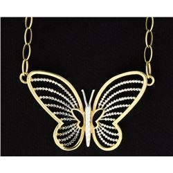 17 Inch Italian Made Butterfly Necklace