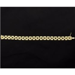 Italian Made Panther Chain Bracelet