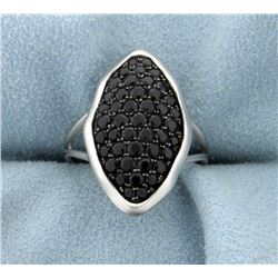 2ct Total Weight Onyx Ring