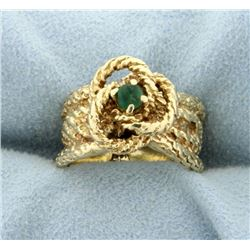 14K Natural Emerald Ring