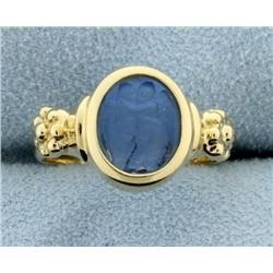 Italian Made Signet Ring With Venetian Glass