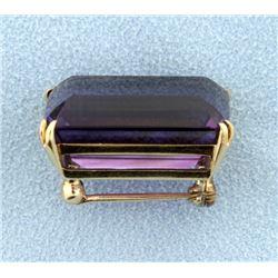 22ct Amethyst Pin