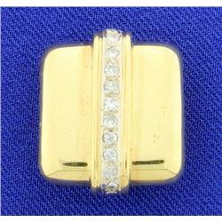 18K Diamond Slide for Necklace or Omega