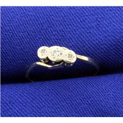 18K Vintage Gold and Platinum Diamond Ring