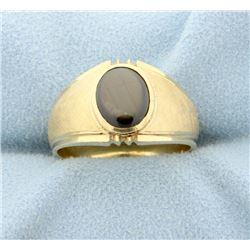 1 1/2ct Black Sapphire Ring