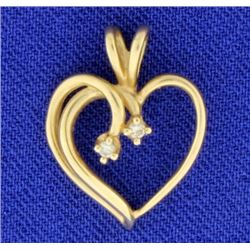 Heart with Diamonds Pendant