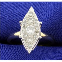 3/4ct Total Weight Vintage Diamond Ring