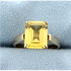 Antique 3ct Citrine Ring