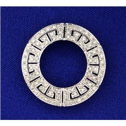 Diamond Circle Pendant in White Gold