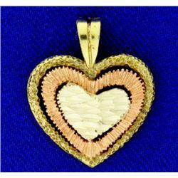 Tri Color Heart Pendant