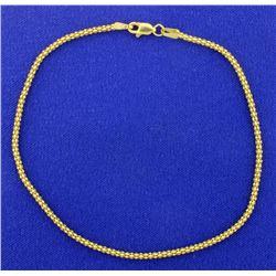 9 Inch Yellow Gold Bracelet
