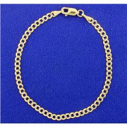 7 Inch 10K yellow & White Gold Bracelet