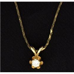 Diamond Pendant on 16 inch Chain