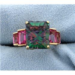 Mystic Topaz & Pink Quartz Ring