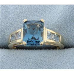 London Blue Topaz & White Topaz Ring
