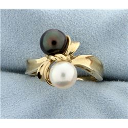 Black & White Pearl Ring