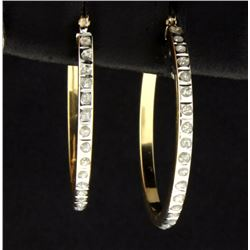 1/4 ct TW Diamond Hoop Earrings