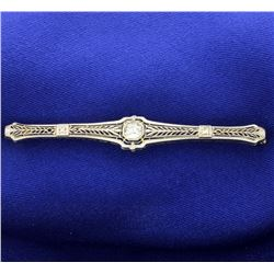Vintage Filigree Diamond Pin