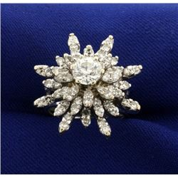 2 1/2ct TW Starburst Diamond Ring