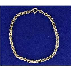 Italian Made 7 Inch Rope Style Bracelet