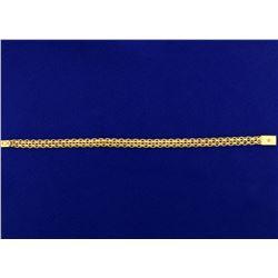 Diamond Cut Italian Made Designer Bracelet