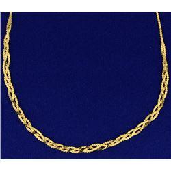 Italian Made Flat S Link Chain