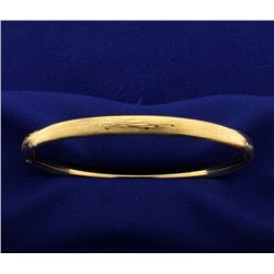 Etched 14k Hinged Bangle Bracelet