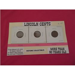 US Lincoln 'wheat' cents 1919, 1920, 1920's