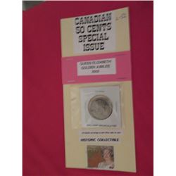 Special Issue Canadian 50 cents – unc 2002 Queens Golden Jubilee