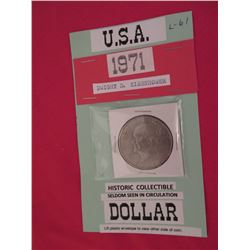 1971 US Dwight D. Eisenhower one dollar - historic collectable