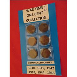 Canadian 1 cent war time 1940 to 1945