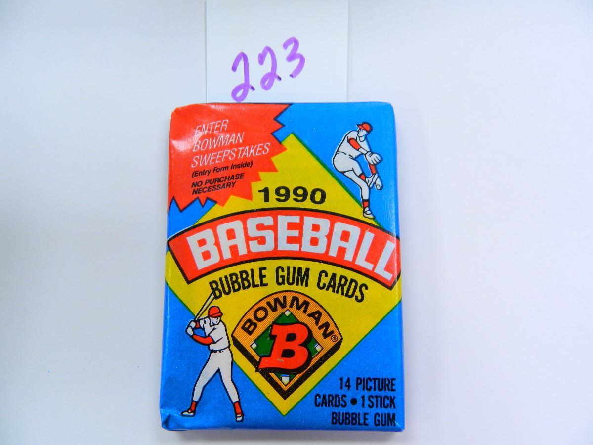 Six 6 Unopened Packs Of 1990 Bowman Baseball Cards 14