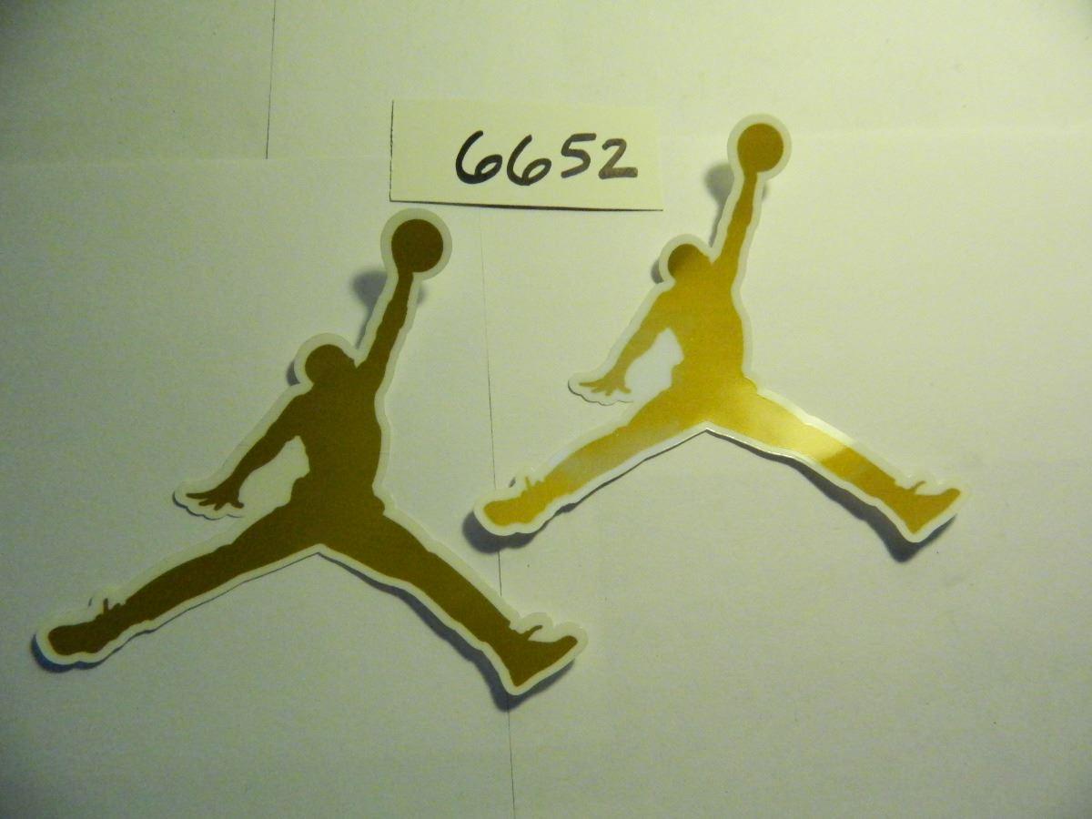 Image 1 two 2 gold 4 25 jordan stickers