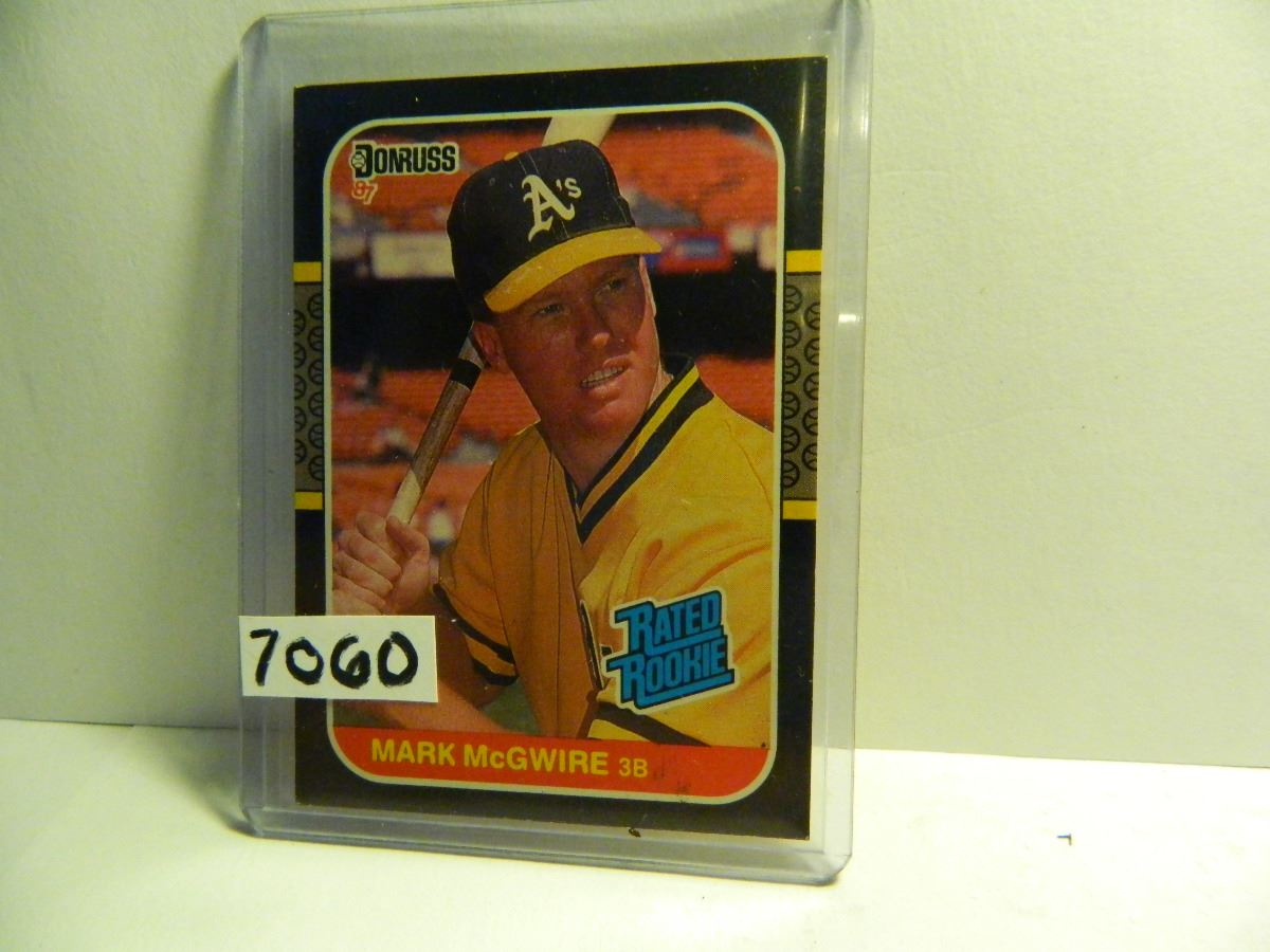 1987 Donruss 46 Mark Mcgwire Oakland Athletics Rated Rookie