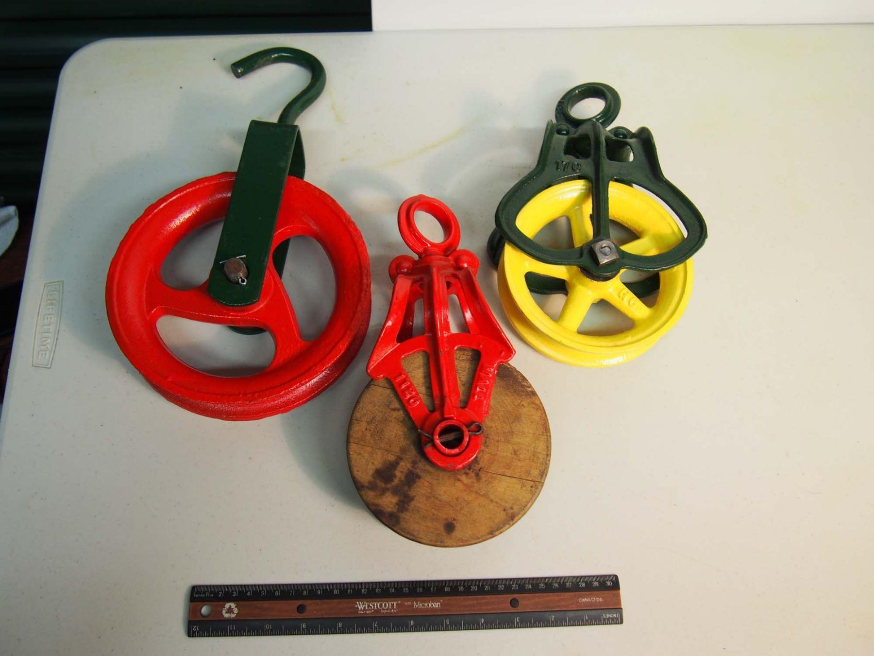 Metal Pulley Wheels (1 Wood) (3)