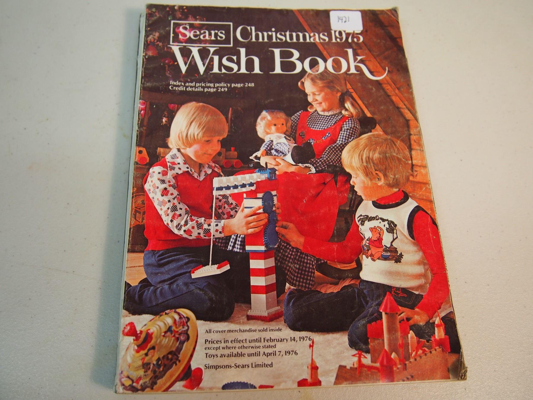 Sears Christmas Catalog.Sears Christmas 1975 Wish Book
