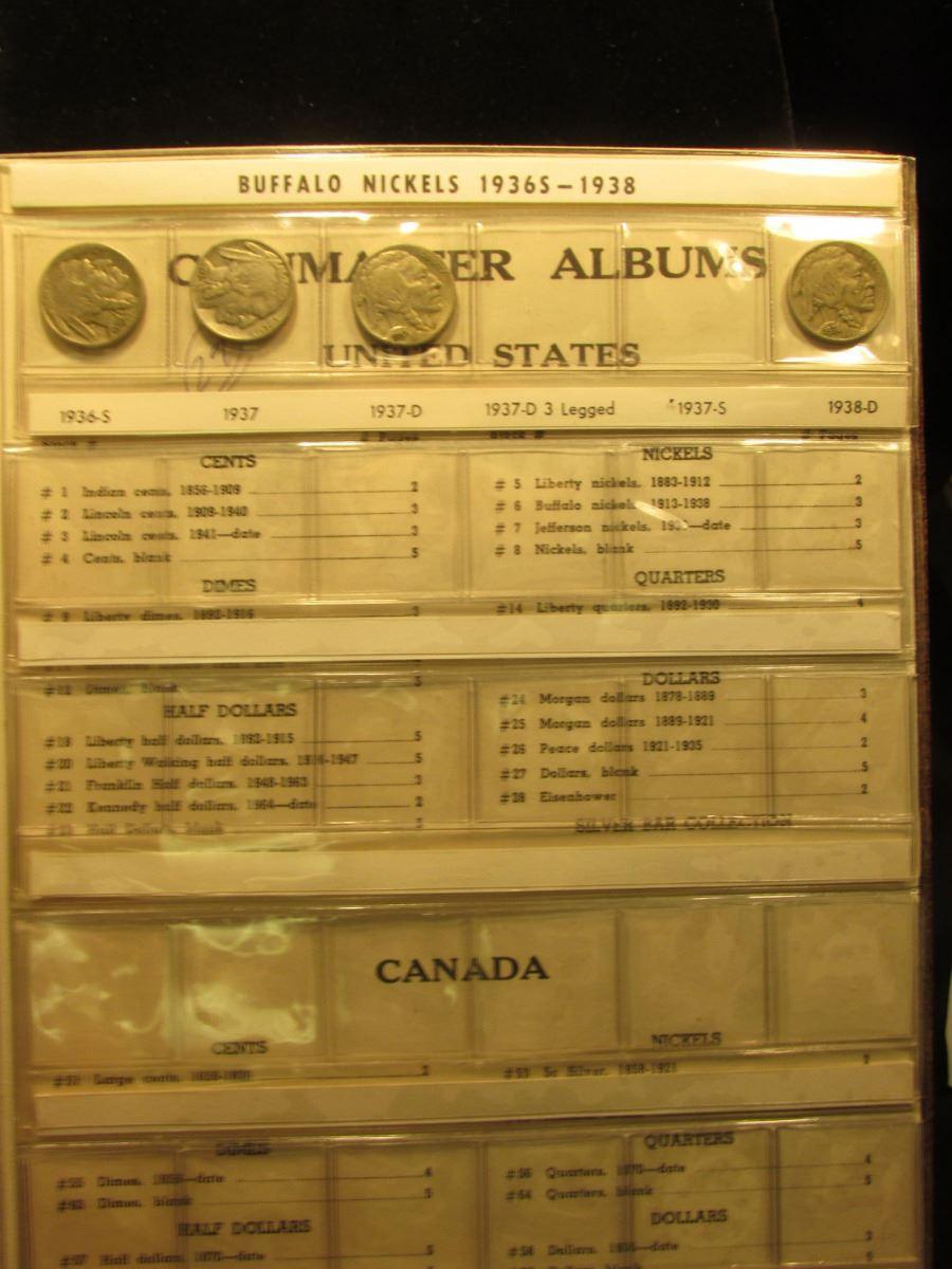 1917-38 Partial Set of Buffalo Nickels in a Harco Coinmaster Album  Various  Grades  (29 pcs )