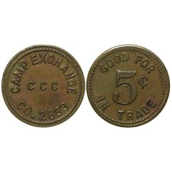 CCC Camp Token Williams Arizona