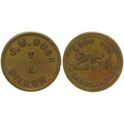 J. W. Bush 25c Token Dilkon Arizona
